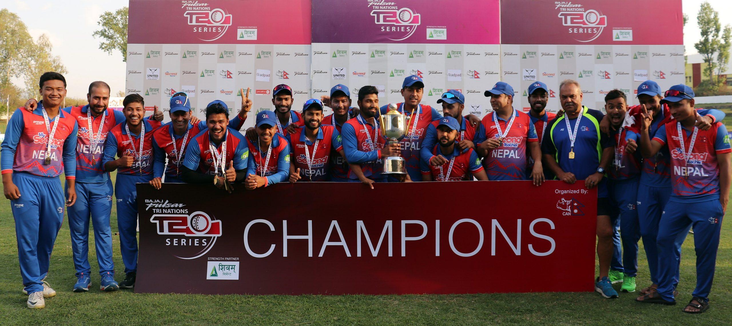त्रिकोणात्मक टी–ट्वान्टी क्रिकेटः नेदरल्यान्ड्सलाई हराउँदै नेपाल च्याम्पियन