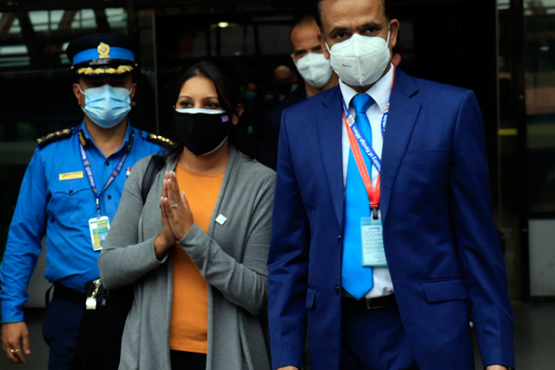 एमसीसी उपाध्यक्ष नेतृत्वको टोली काठमाडौंमा (फोटो फिचर)